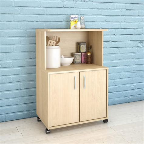 kitchen cart with cabinet natural maple kitchen cart with storage cabinet 599 the