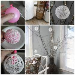 diy decorations wonderful diy yarn ornaments for