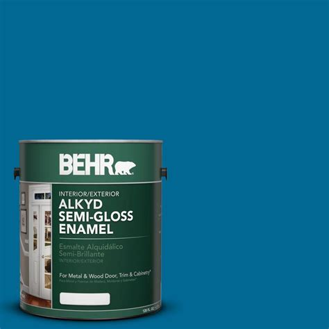 home depot paint watery behr 1 gal osha 1 safety blue semi gloss enamel alkyd