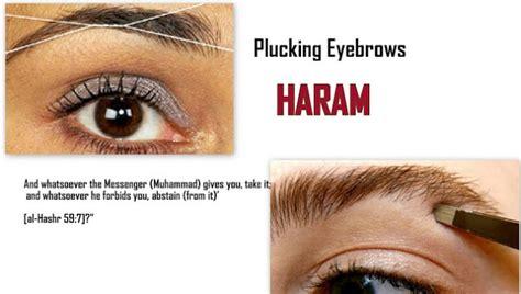 tattoo eyebrows islam islamic quotations ruling on plucking eyebrows