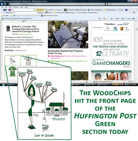 huffington post sections woodchips hit huffington post front page green section