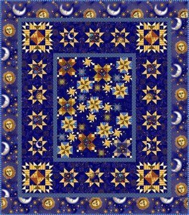 universe pattern fabric block of the month