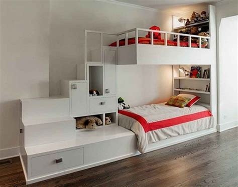 Bunk Beds With Storage Space Room Designs Charming Beds With Storage Ideas White Loft Bunk Bed With Storage