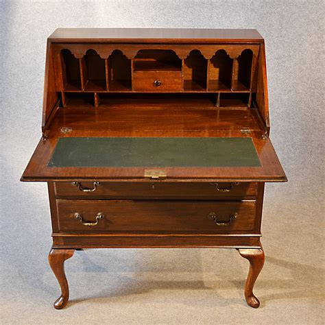 Antique Bureau Writing Desk Mahogany English Antiques Atlas Antique Desks