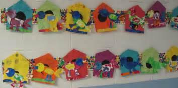 Creative Lighting Carle Place Bulletin Board Twigs Birdhouses Kindergarten Eric Carle