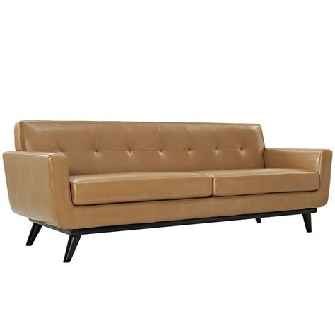 button tufted leather sofa engage modern bonded leather sofa with button tufted