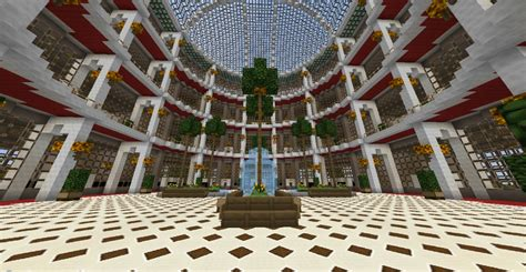 Build Your Own Home Designs rotunda shopping mall shop store minecraft project