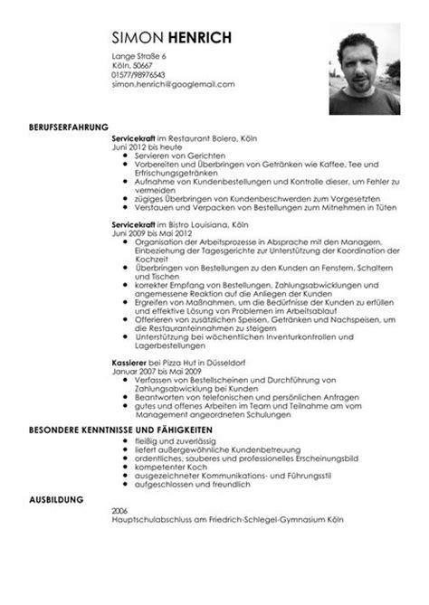 Lebenslauf Muster Restaurantfachfrau Lebenslauf Muster Servicekraft In Der Gastronomie Livecareer