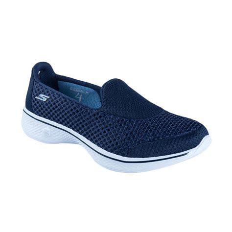 Sepatu Fitnes Wanita Fit 5 Jingga ulasan terbaru skechers go walk 3 ske13980bkw sepatu olahraga 5 5 dan harganya katalog
