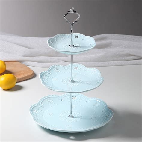 Cupcake Tier 3 tier embossed ceramic cake stand cupcake stand food stand wedding plate