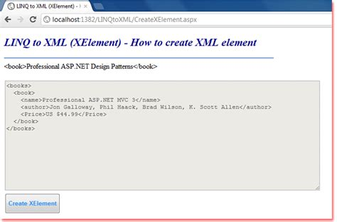 tutorial linq to xml c linq to xml xelement how to create xml element