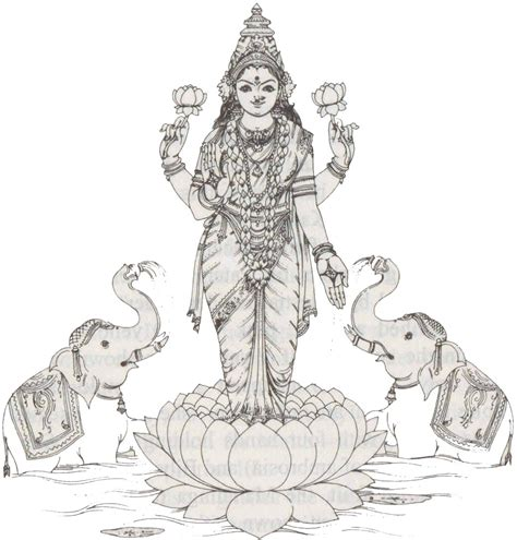 goddess lakshmi colouring pages page 2