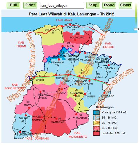 peta luas wilayah kab lamongan surveyor