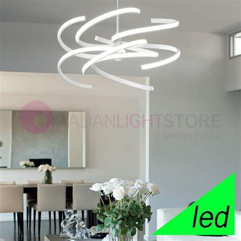 perenz illuminazione spirale lada a sospensione a led design moderno perenz