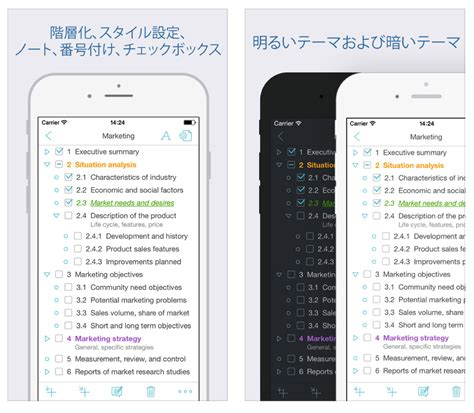 Outliner Mac Evernote by Evernoteと同期できるiphone 向けアウトラインエディタ Cloud Outliner 2 Itea4 0