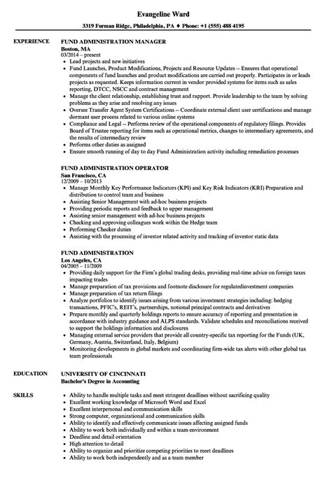 Fund Administrator Cover Letter by Fund Administrator Sle Resume Fund Administrator Sle Resume Project Analyst