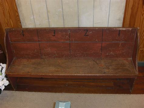 antique school bench rare antique painted numbered amish school bench from