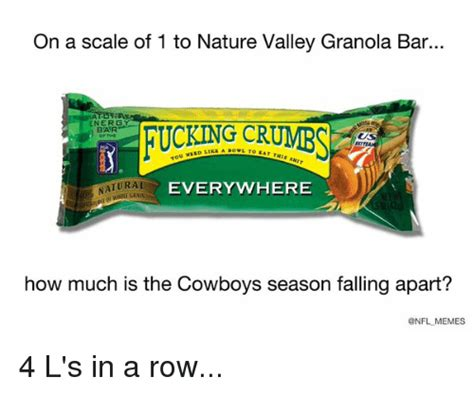 Nature Valley Granola Bar Meme - funny cowboy meme and nfl memes of 2016 on sizzle