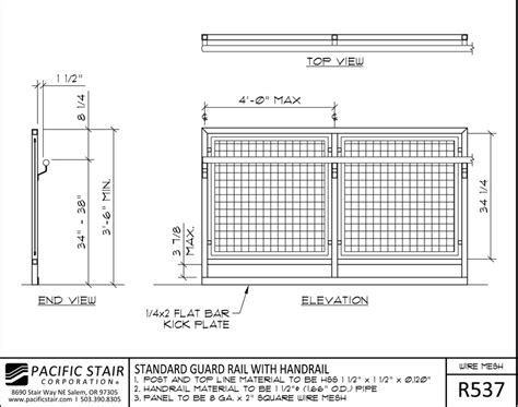 wire details wire mesh rail pacific stair corporation