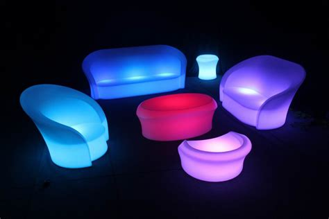 sofa with lights underneath led furniture hire in glasgow and surrounding area s