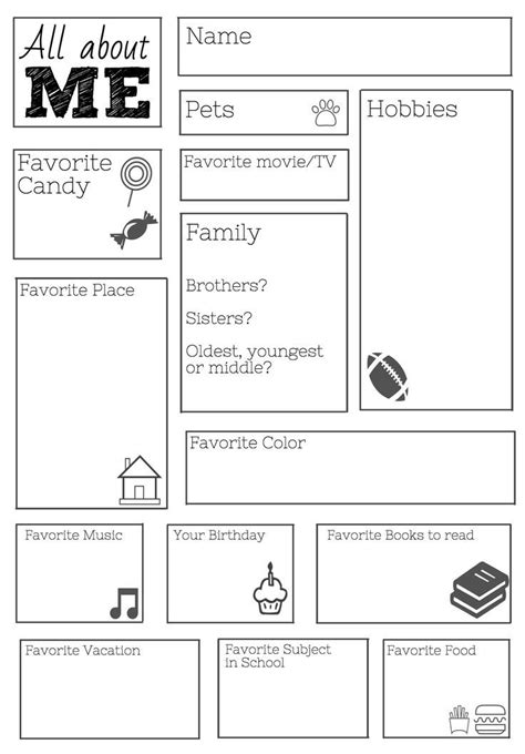 printable teacher lesson plans worksheets freebie all about me worksheet fantastic freebies for