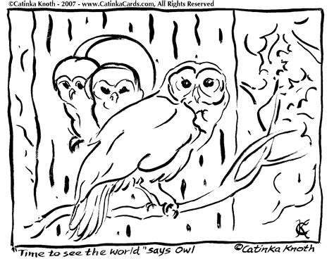 happy birthday owl coloring pages owl coloring pages by catinka knoth