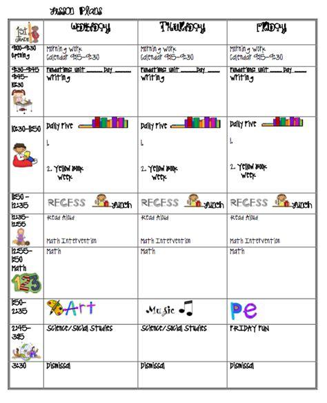 1st grade lesson plan template lesson plans i 1st grade