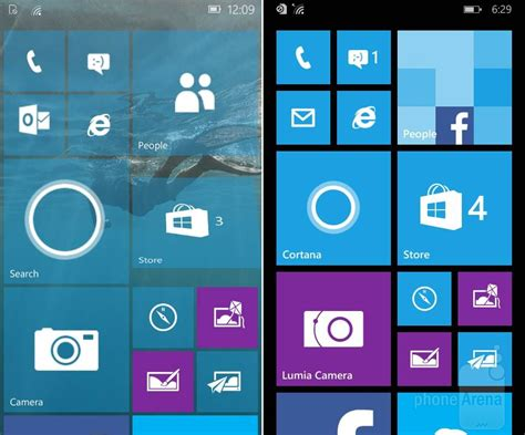 windows 8 1 mobile windows 10 mobile vs windows phone 8 1 le differenze in