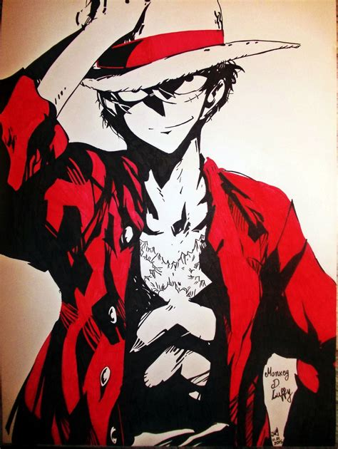 Kaos Onepiece Monkey D Luffy Shadow monkey d luffy by artmaker77 on deviantart