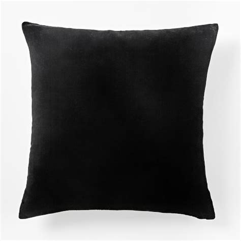 Square Pillow Protector by Luxe Velvet Square Pillow Cover Black West Elm
