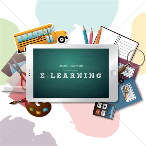 e learning design vector image 1825521 stockunlimited