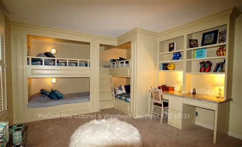 Quad Level House Plans bunk room quad bunk beds with bookcases and desks