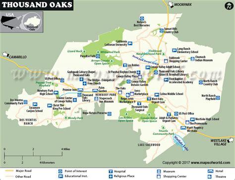 maps thousand oaks thousand oaks map california thousand oaks city map