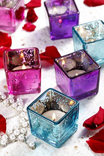 v more small square cube mercury glass candle holder votive candle holder tealight
