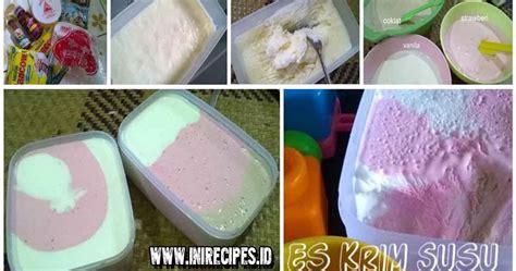 cara membuat ice cream fruit es krim susu homemade es krim siapa bunda di sini yang