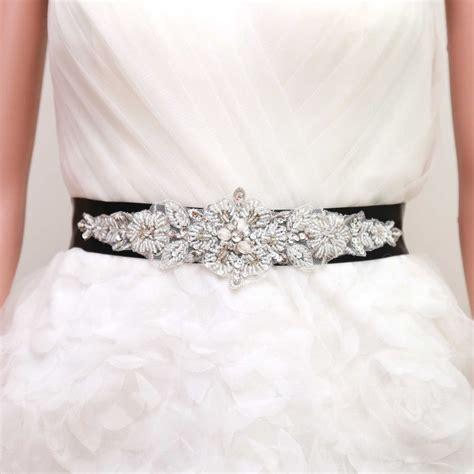 bridal wedding snowflake pearl rhinestone ribbon