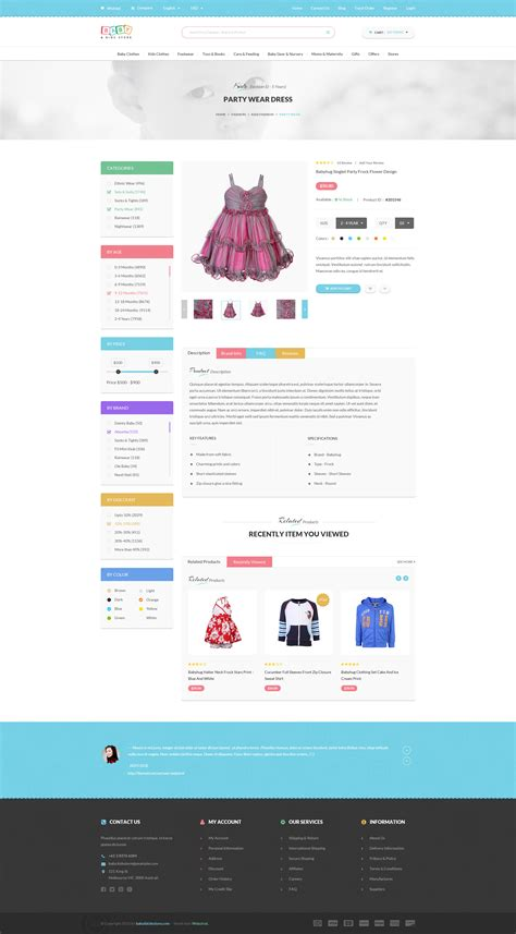 themeforest psd baby kids store ecommerce psd template by webstrot