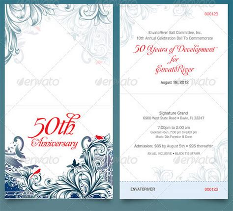 folded anniversary ticket template flickr photo sharing