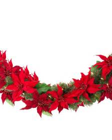 Home Decor Halloween holiday led battery operated poinsettia foliage balsam hill