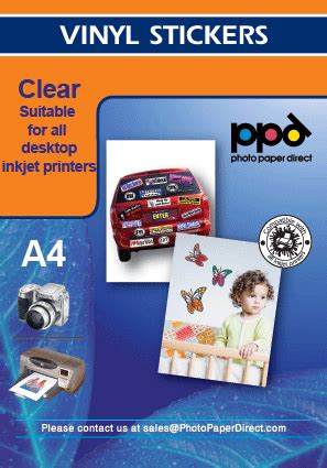 clear printable vinyl inkjet 20 a4 creative clear sticker paper sheets ebay