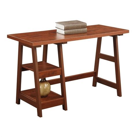 convenience concepts designs2go trestle desk convenience concepts designs2go trestle cherry computer