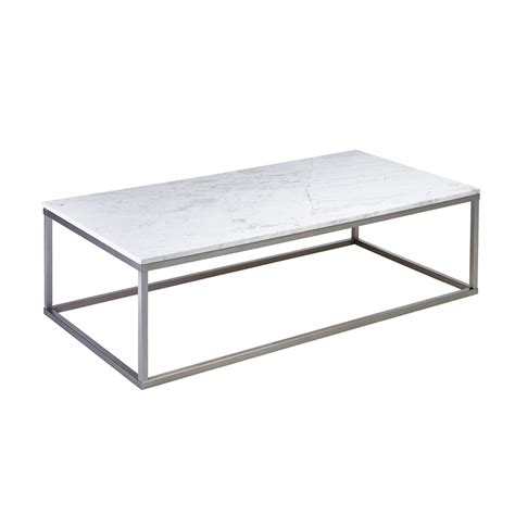 White Rectangular Coffee Table Marble Rectangular Coffee Table White Dwell