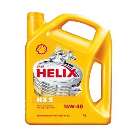 Daftar Pelumas Shell jual shell helix hx 5 15w 40 oli pelumas 4 l