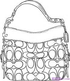 handbags colouring page