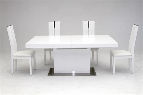 white dining table zenith modern white extendable dining table