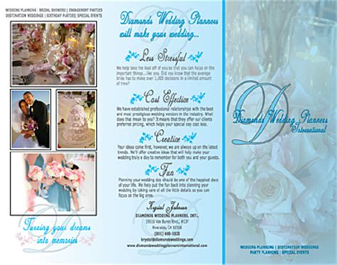 Wedding Consultant Brochure by Debron Graphics Brochure Design Sles Tri Fold Design