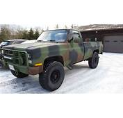 1985 Chevrolet K30 3500 4x4 M1028 CUCV Military Truck 62