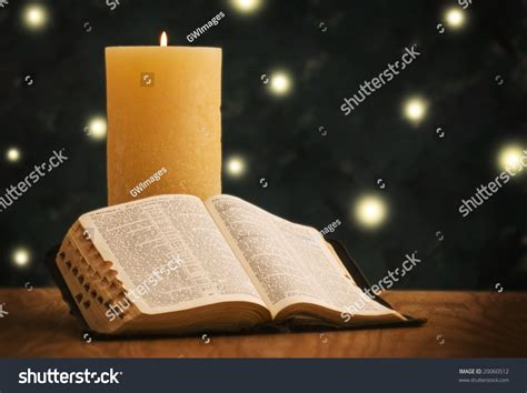 christmas holy bible vakyam pictures holy bible in front of tree stock photo 20060512