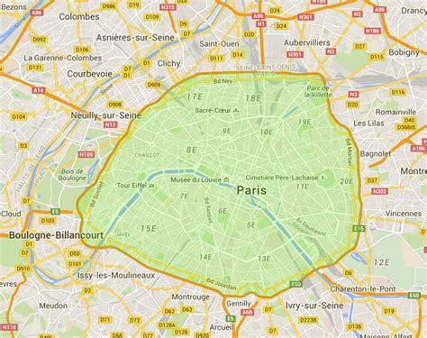 la carte et le 2081365456 carte paris plan metro paris plan de paris