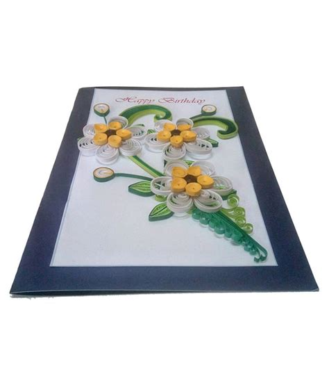 Handmade Greeting Cards Paper Quilling - handmade paper quilling happy birthday greeting card with